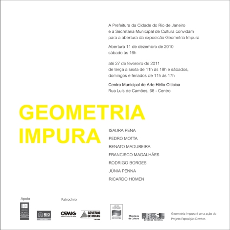 Convite Geometria Impura - Rio de Janeiro